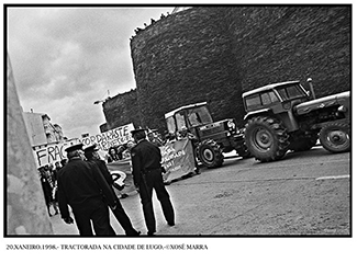 20.XANEIRO.1998.- TRACTORADA NA CIDADE DE LUGO.-©XOSÉ MARRA